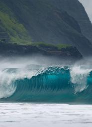 Olas en Hawaii