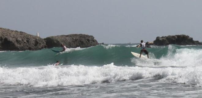 Surfeando en La Manga del Mar Menor | Región de Murcia | España
