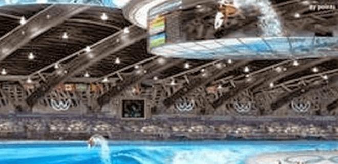 Imagen por ordenador de la piscina de olas artificiales para celebrar las pruebas de Surf en los Juegos Olímpicos de Tokio 2020