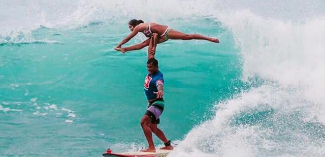 Kalani Vierra y Krystl Apeles | Campeones del World Tandem Surf 2015 | Playa Makaha - Honolulu - Hawái - Estados Unidos | Diciembre 2015