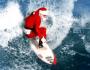 Papá Noel surfista