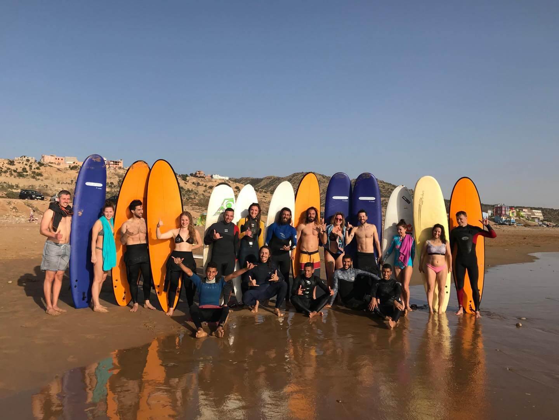 Surfcamp Surf House Desert Point in taghazout, Souss-Massa-Drâa, Maroc