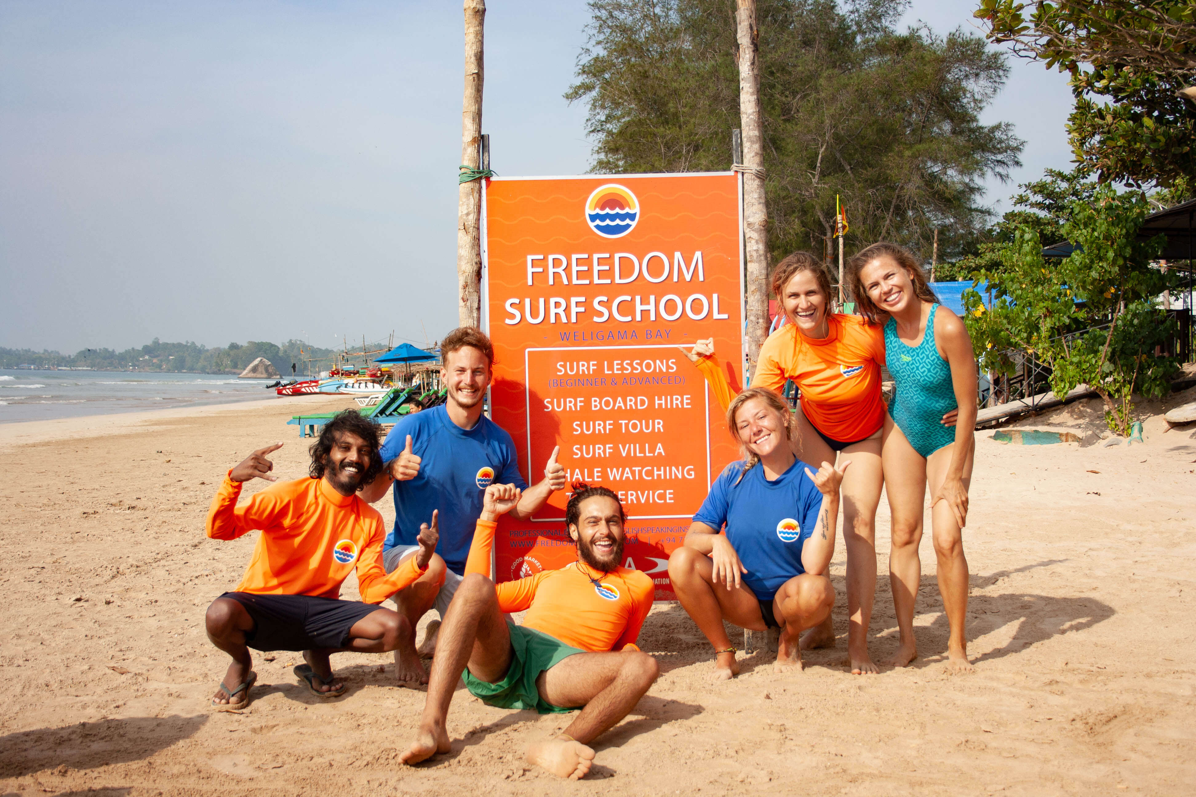 Surfcamp Freedom Surf School in Weligama, Matara, Sri Lanka