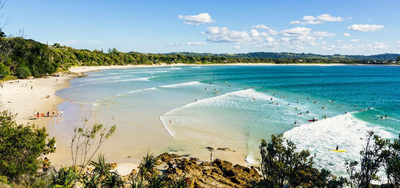 Surfcamp Soul Surf School in Byron Bay, Nueva Gales del Sur, Australia