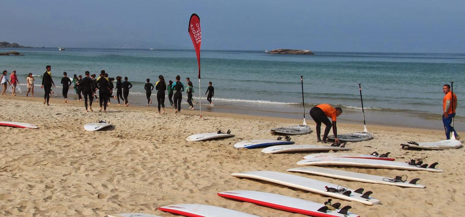 Surfcamp Prado Surf Escola A Lanzada in O Grove, Galicia, España