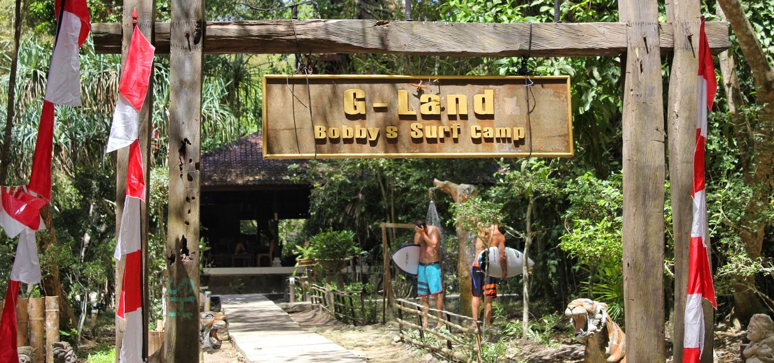 Surfcamp G-Land Bobby's Surf Camp in Gragajan Bay, Java, Indonesia