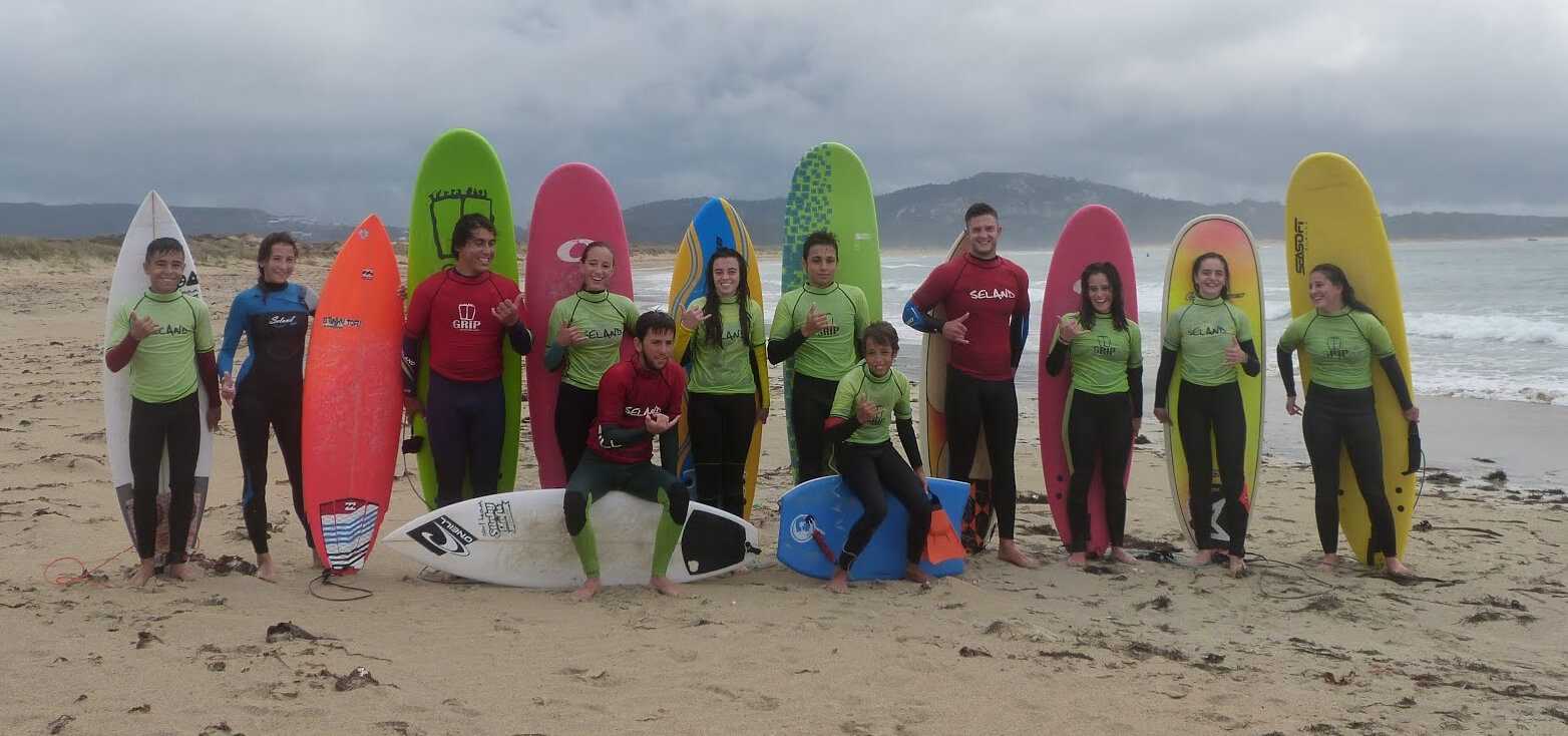 Surfcamp Grip Surf School in Ribeira, Galicia, España