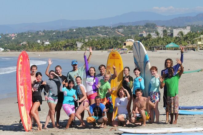 Surfcamp B SURFER surf school & villa in Puerto Escondido, Oaxaca, Mexico