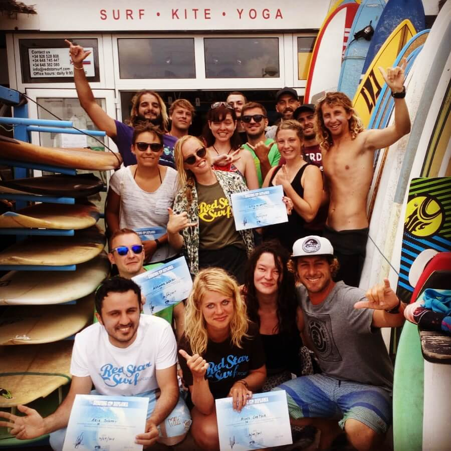 Surfcamp Red Star Surf & Yoga Camp in Lanzarote, Canary Islands, Spain