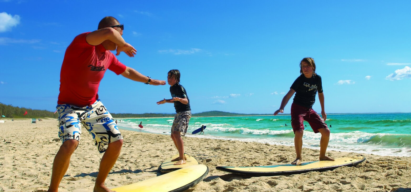 Surfcamp Noosa Surf Lessons in Nossa, Queensland, Australia
