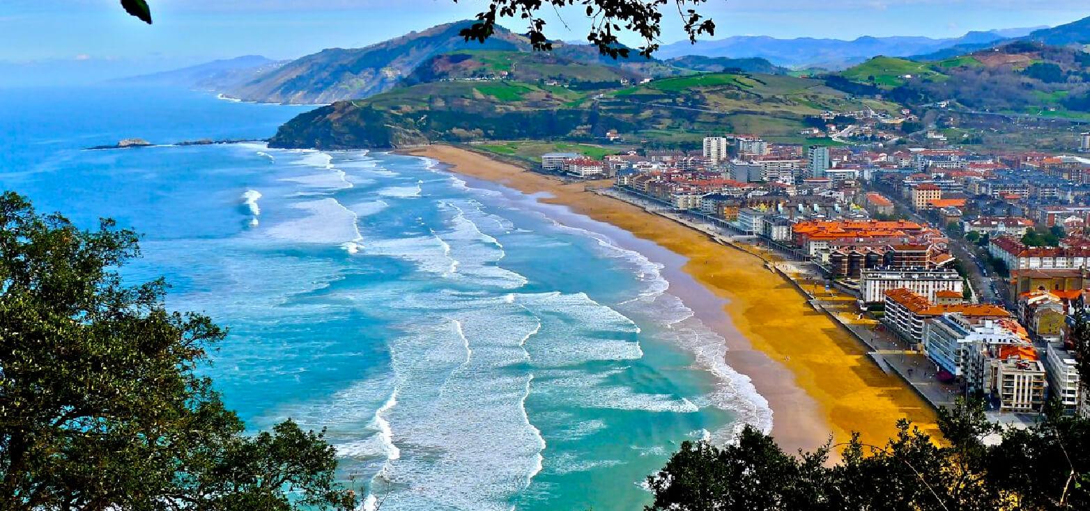 Resultado de imagen de zarautz playa