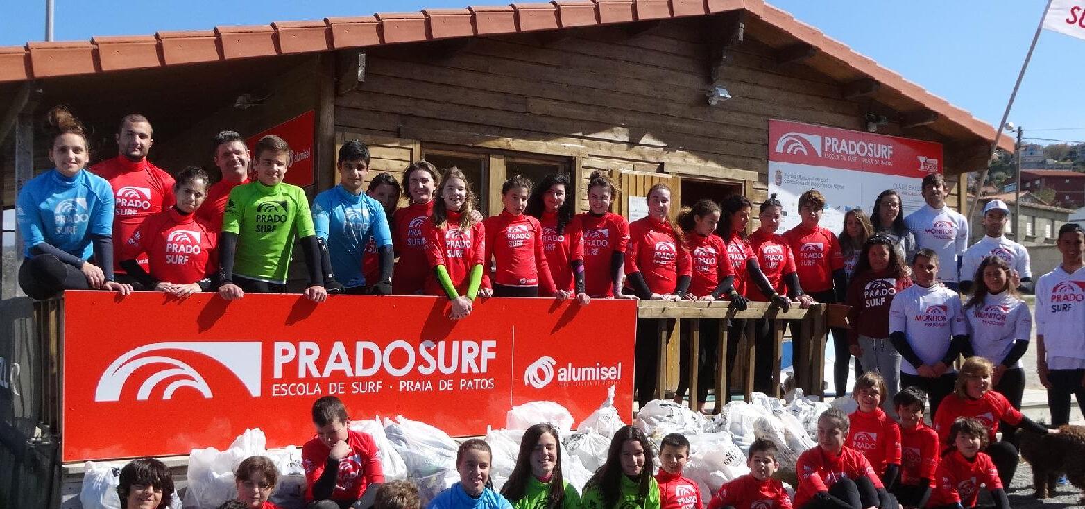 Surfcamp Prado Surf Escola Los Patos in Nigrán, Galicia, España